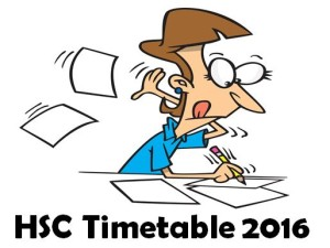 HSC time table 2016